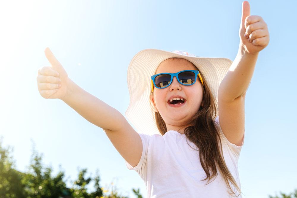 Salud ocular en vacaciones en niños